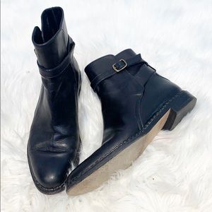 Cole Haan Collection Black Ankle Strap Bootie 6